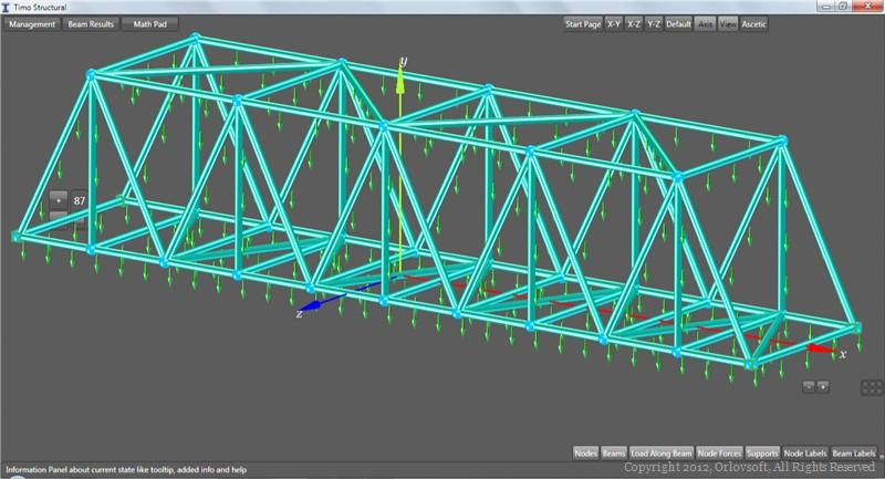 Simple bridge structural analysis by TIMO Structural.